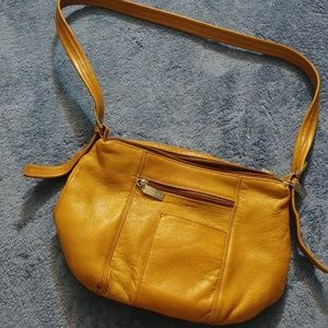 Cute brown leather Tignanello shoulder bag
